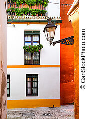 Seville - Old narrow street in Seville