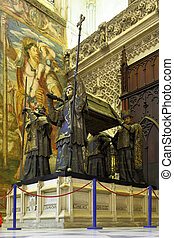 Tomb of Columbus - Tomb of Christopher Columbus in Seville...