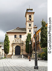 St Anna church in Granada, Spain