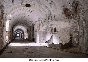 Tunnel in a bunker of the Osoppo fortress