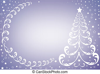 Silvery christmas background