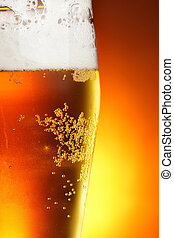 Beer - Glass of beer with froth close-up