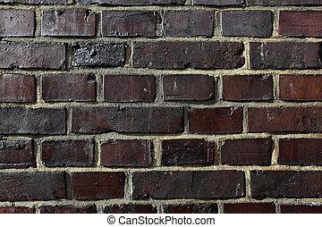 Old brickwork - Texture of dark old brickwork