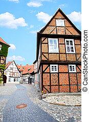 Street in Germany - Old street in Quedlinburg, Germany