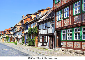 Quedlinburg - Old street in Quedlinburg, Germany