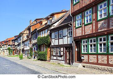 Quedlinburg - Old street in Quedlinburg, Germany
