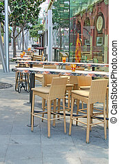 Summer Cafe Bistro - A Summer Cafe Bistro Empty During the...