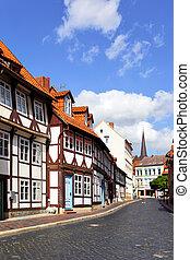 Hildesheim - Old street in Hildesheim, Germany