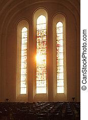 Church windows - Sunlight going through church windows
