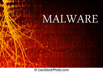 Malware Abstract Background in Red and Black
