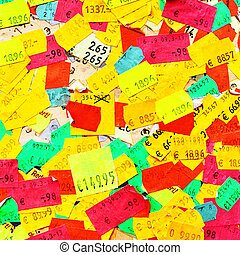 Price stickers - Plenty of colorful price stickers