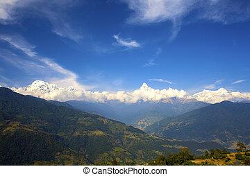 Beautiful landscape in Himalayas, Annapurna area, Nepal