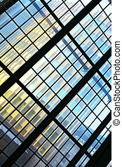 Abstract architectural background - Glass wall - Abstract...