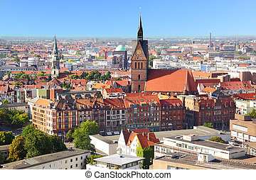 Hanover - Panoramic view of Hanover city, Germany