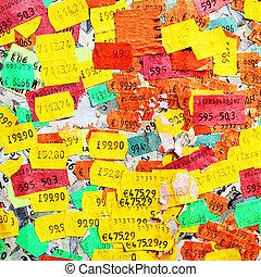 Price stickers - Plenty of paper price stickers