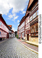 Street in Hildesheim - Old street in Hildesheim, Germany