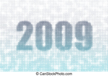Happy New Year 2009 Greeting Card Abstract Background