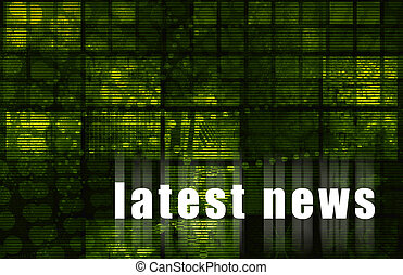 Latest News Abstract Background in Green Color