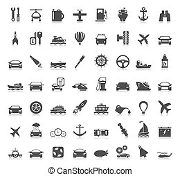 Transport icons6 - Collection transport of icons A vector...