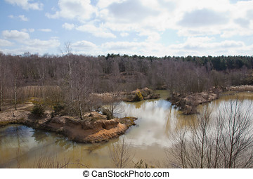 Disused Sand Quarry - Photo of a disused quarry turning into...