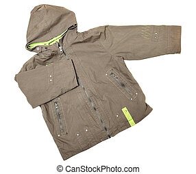 Coat with hood - Childrens wear - coat with hood isolated...