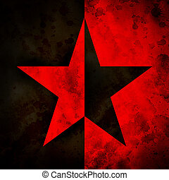 Anarchy - Grungy illustration (raster) of the anarchy star