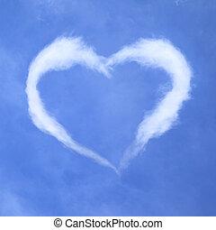 Cloud heart - Cloud looking as haert symbol close-up