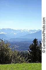 german alps - A photography of a view of the german alps