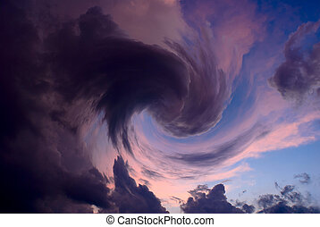 turbulence - vortex of clouds
