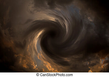 vortex of clouds