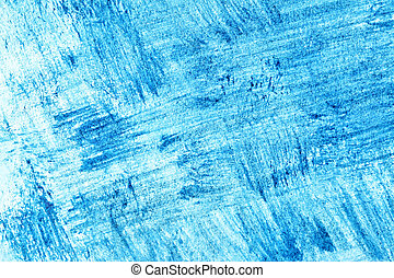 Blue abstract paint strokes, may be used as background