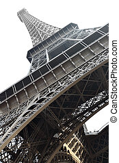 Eiffel tower isolated over the white background, Paris,...