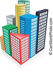 3d city concept