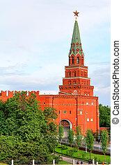 Moscow Kremlin - Borovitskaya Tower of Moscow Kremlin,...