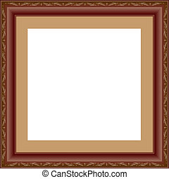 picture frame - antique picture frame vector