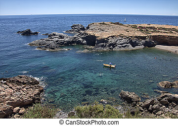 beautiful cove with clear water