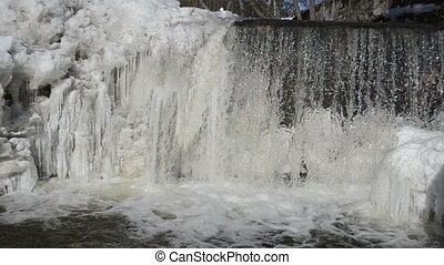 river cataract winter - wonderful river cataract waterfall...