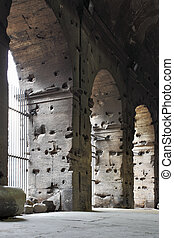 Coliseum - Arches of The Coliseum, Rome, Italy
