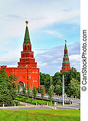Moscow Kremlin - Towers of Moscow Kremlin, Russia