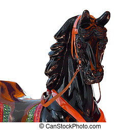 Close up of a Merry-Go-Round Horse