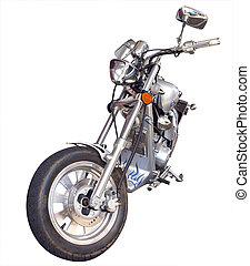 Custom Motorbike isolated with clipping path