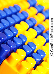 Meccano - Colorful building blocks of meccano. Shallow DOF!