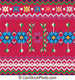 Seamless ethnic pattern background