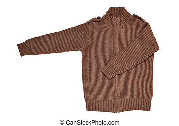 Wool sweater - Childrens wear - wool sweater isolated over...