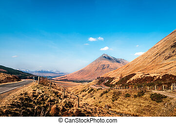 171 - Road to Highland Scotland - Landscape of Highlands...