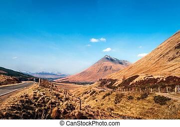 171 - Road to Highland Scotland - Landscape of Highlands...