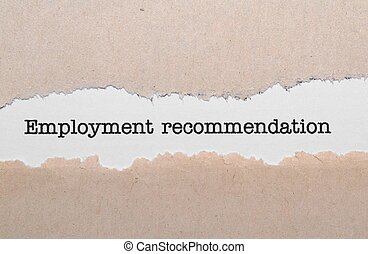 Employment recommendation