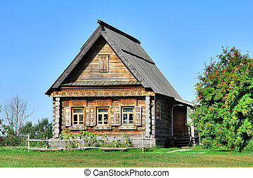 Old wooden house - Russian national wooden house - izba