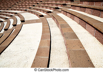 Amphitheater with lots empty seats