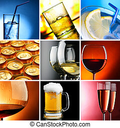 Alcohol - Set of different alcohol drinks photos